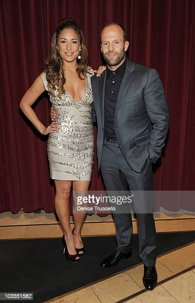 Giselle Itie and Jason Stratham attend the preparty at the special screening of The Expendables at Planet Hollywood Casino Resort on August 11 2010...