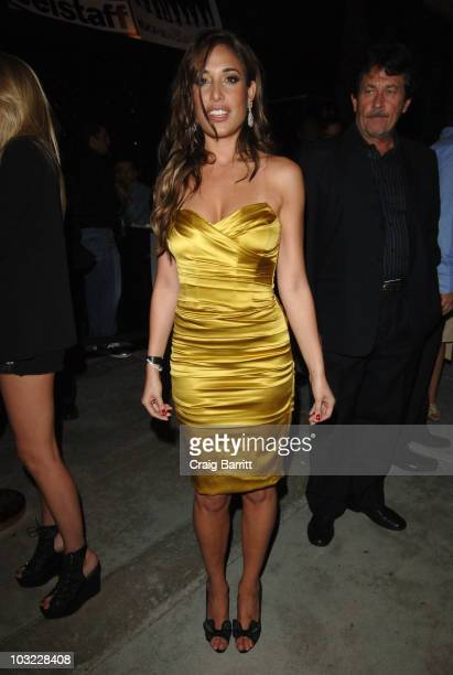 Giselle Itie arrives at The Expendables AfterParty hosted by Manuele And Michele Malenotti at Trousdale Nightclub on August 3 2010 in Los Angeles...