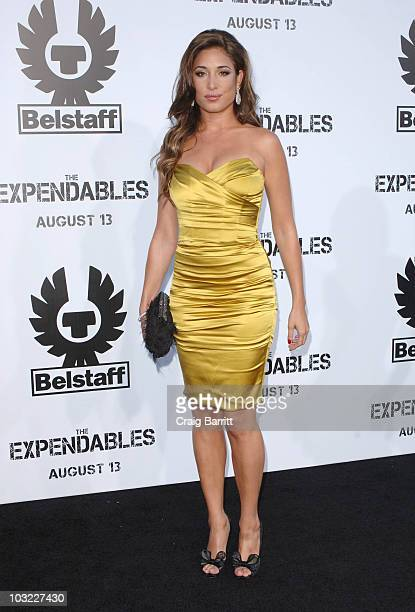 Giselle Itie arrives at The Expendables Premiere sponsored by Belstaff at Graumans Chinese Theatre on August 3 2010 in Los Angeles California