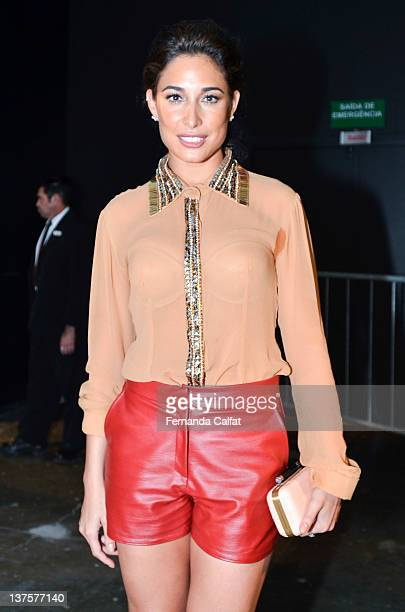 Giselle Itie attends Colcci Front Row Sao Paulo Fashion Week Fall 2012 on January 22 2012 in Sao Paulo Brazil