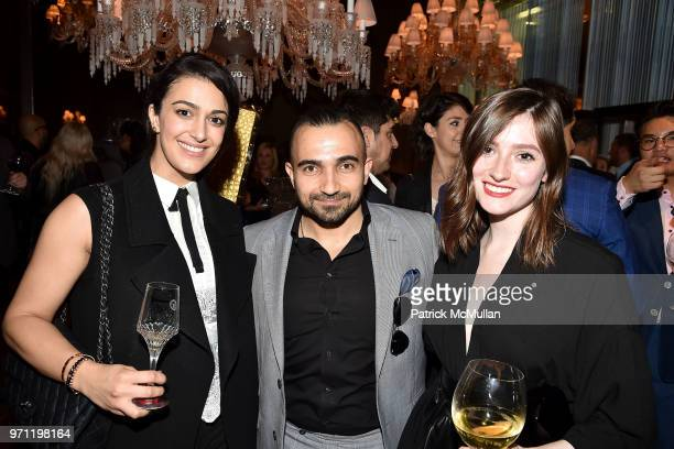 Giselle Kavandi Eric K and Jane Rock attend Christopher R King Debuts New Luxury Brand CCCXXXIII at Baccarat Hotel on June 5 2018 in New York City