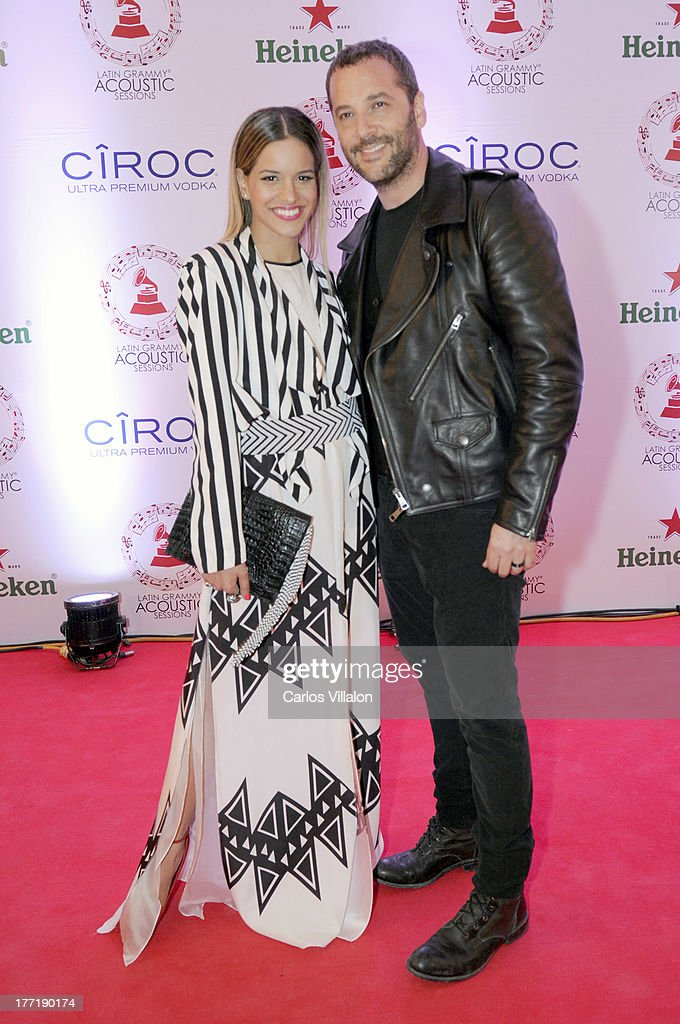 Giselle Lacouture and music producer Jose Gaviria attend the Latin GRAMMY Acoustic Session at Country Club de Bogota on August 21, 2013 in Bogota, Colombia.