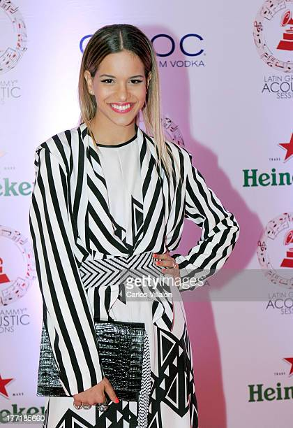 Giselle Lacouture attends the Latin GRAMMY Acoustic Session at Country Club de Bogota on August 21 2013 in Bogota Colombia