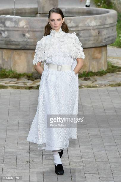 Giselle Norman walks the runway during the Chanel Haute Couture Spring/Summer 2020 show as part of Paris Fashion Week on January 21, 2020 in Paris,...
