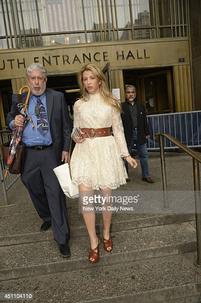 Giselle Oliveira leaves Manhattan Supreme Court with her lawyer The Brazilian bombshell gal pal of Mambo Kings actor Armand Assante allegedly racked...