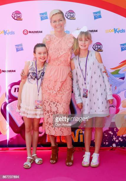 Giselle Overton Jessica Rowe and Allegra Overton arrives ahead of the My Little Pony The Movie Sydney Premiere on October 28 2017 in Sydney Australia