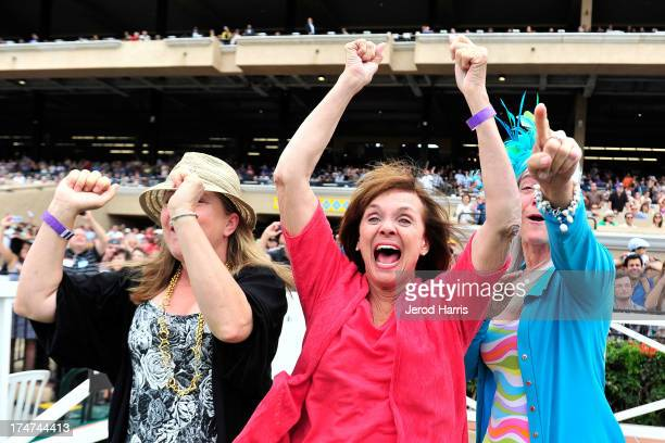 Giselle Paul Valerie Harper and Kim Norris attend Lung Cancer Foundation of America's 'Day At The Races' at Del Mar Race Track on July 28 2013 in Del...