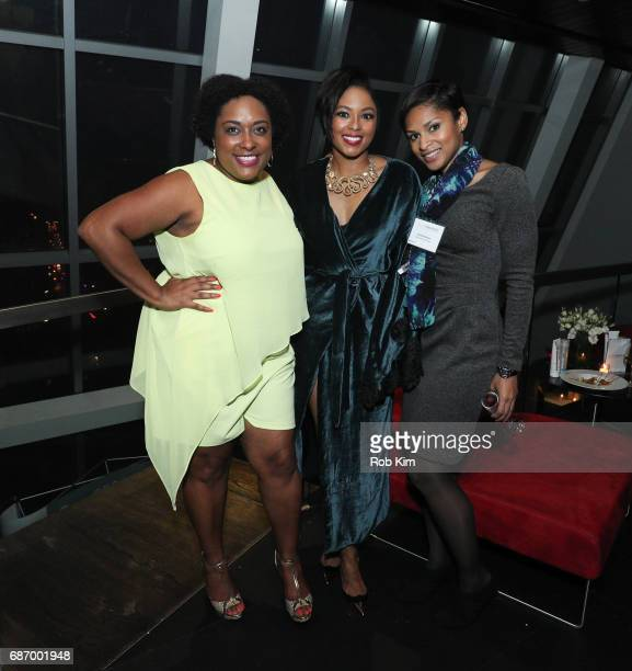 Giselle Phelps Alicia Quarles and Jericka Duncan attend Cesare Ragazzi USA Launch Event at Hotel on Rivington on May 22 2017 in New York City