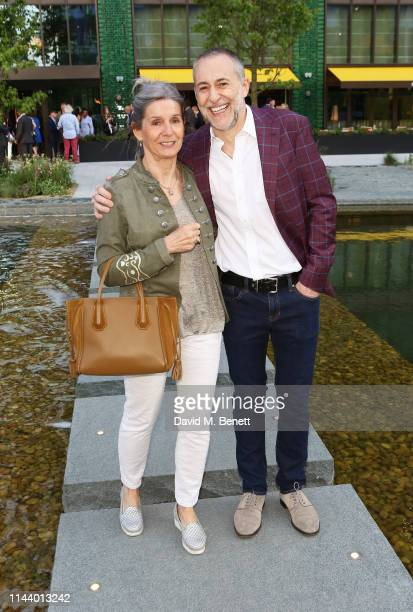 Giselle Roux and Michel Roux attend Darby's opening at Embassy Gardens on May 15 2019 in London England
