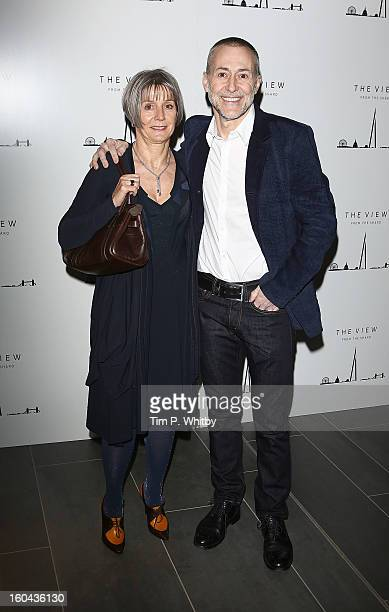 Giselle Roux and Michel Roux Jr attend 'The View from The Shard' launch party at The Shard on January 31 2013 in London England The Shard is Western...