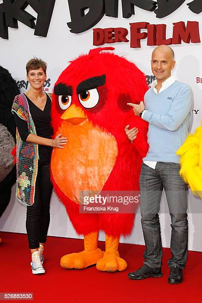 Gisi Herbst and Christoph Maria Herbst attend the 'Angry Birds - Der Film' Premiere on May 1, 2016 in Berlin, Germany.