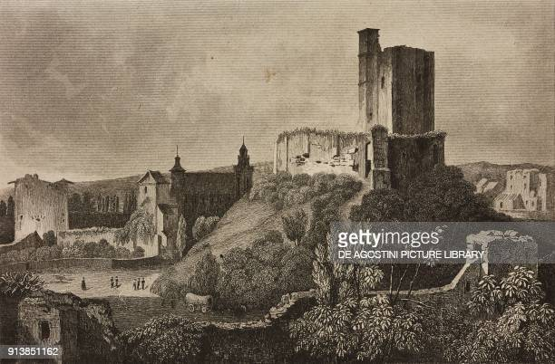 Gisors Castle France engraving by Lemaitre from France deuxieme partie L'Univers pittoresque published by Firmin Didot Freres Paris 1845