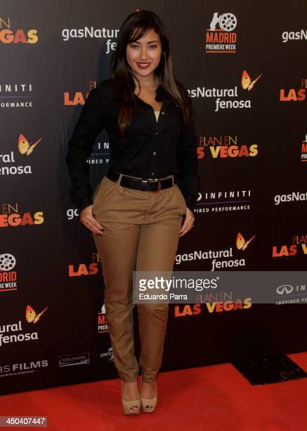 Gissele Calderon attends Madrid Premiere Week party photocall at Callao cinema on November 18 2013 in Madrid Spain