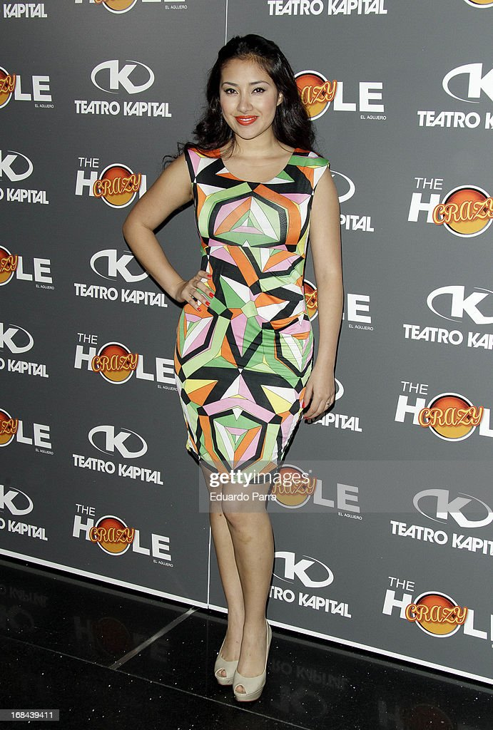 Gissele Calderon attends 'The crazy hole' premiere photocall at Kapital theatre on May 9, 2013 in Madrid, Spain.