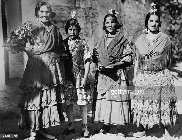 Gitano women or gypsies of southern Spain circa 1930