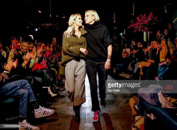 Gitta Banko and Boscana designer Solveig Olek walk the runway at the Boscana X Gitta Banko fashion show during Berlin Fashion Week Autumn/Winter 2020...