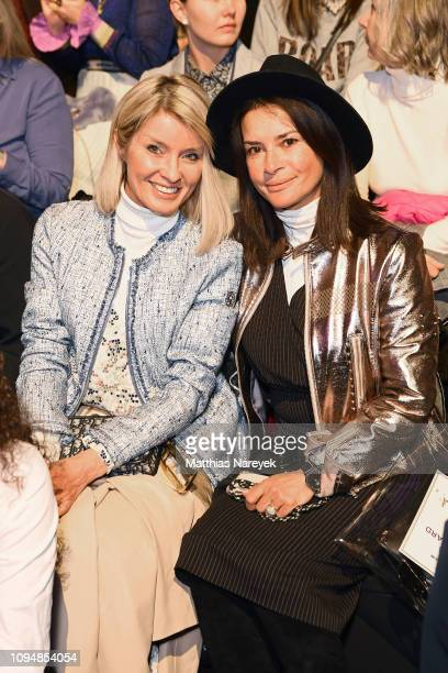 Gitta Banko and Gitta Saxx attend the Sportalm Kitzbuehel show during the Berlin Fashion Week Autumn/Winter 2019 at ewerk on January 16, 2019 in...