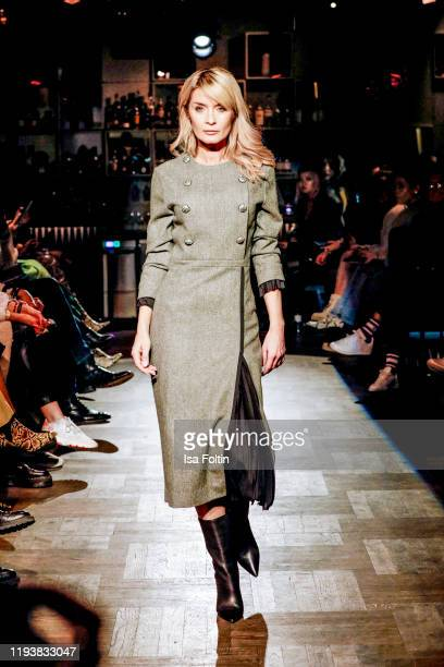 Gitta Banko walks the runway at the Boscana X Gitta Banko fashion show during Berlin Fashion Week Autumn/Winter 2020 on January 14 2020 in Berlin...