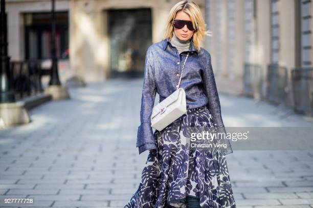 866fb74f5 Street Style   Paris Fashion Week Womenswear Fall Winter 2018 2019   Day Six