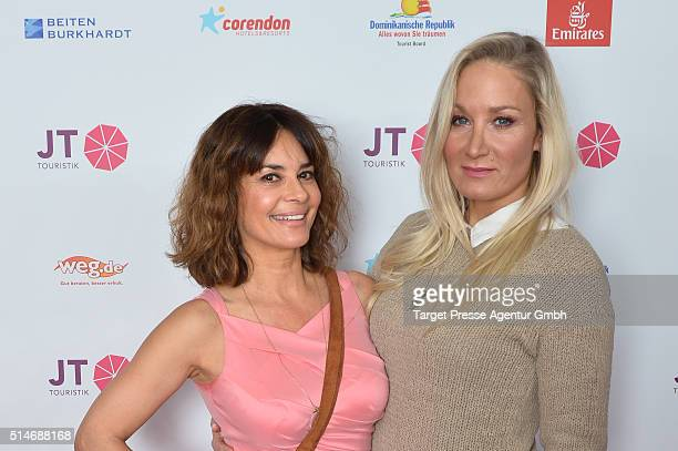 Gitta Saxx and Janine Kunze attend the JT Touristik Celebrates ITB Party at Soho House on March 10 2016 in Berlin Germany