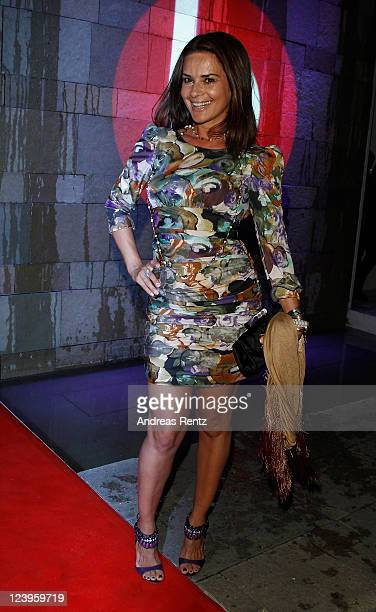 Gitta Saxx arrives for the the 'IBIZA TO BERLIN' party at Spindler Klatt on September 6 2011 in Berlin Germany