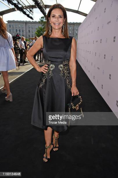 Gitta Saxx attends the Guido Maria Kretschmer fashion show during the Berlin Fashion Week Spring/Summer 2020 at ewerk on July 1 2019 in Berlin Germany