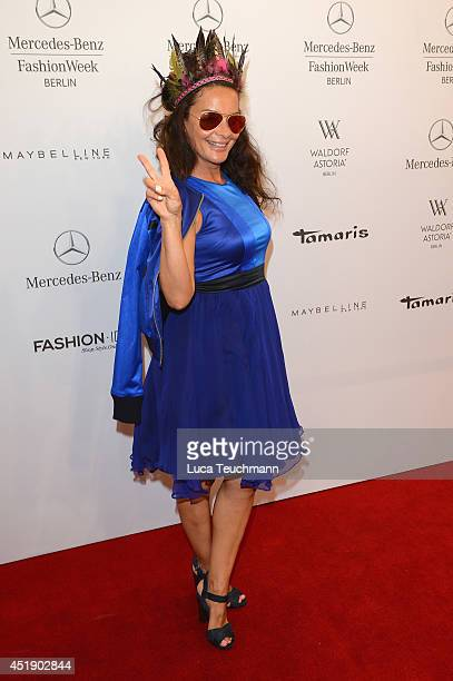 Gitta Saxx attends the Marcel Ostertag show during the MercedesBenz Fashion Week Spring/Summer 2015 at Erika Hess Eisstadion on July 9 2014 in Berlin...