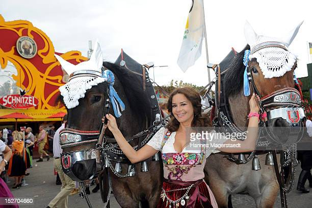 Gitta Saxx attends the 'Sixt Damenwiesn' as part of the Oktoberfest beer festival at Hippodrom beer tent on September 24 2012 in Munich Germany