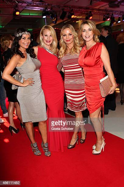 Gitta Saxx Designer Sonja Kiefer Regina Halmich and Tina Ruland arrive at Tribute To Bambi 2014 at Station on September 25 2014 in Berlin Germany