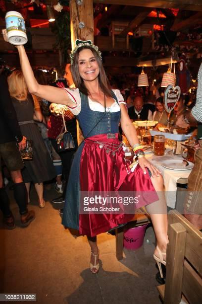 Gitta Saxx during the Oktoberfest 2018 opening at Kaeferschaenke at Theresienwiese on September 22, 2018 in Munich, Germany.