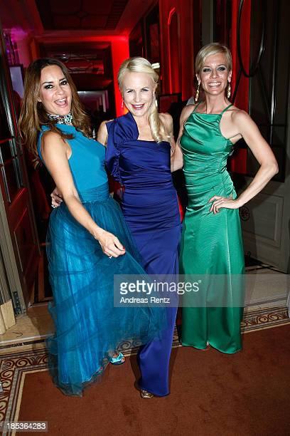 Gitta Saxx, Sonja Kiefer and Eva Habermann attend the 7th Audi Generation Award 2013 at Hotel Bayerischer Hof on October 19, 2013 in Munich, Germany.