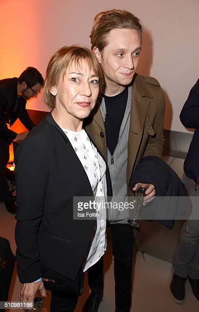 Gitta Schweighoefer and Matthias Schweighoefer attend the PantaFlix Party on February 17, 2016 in Berlin, Germany.