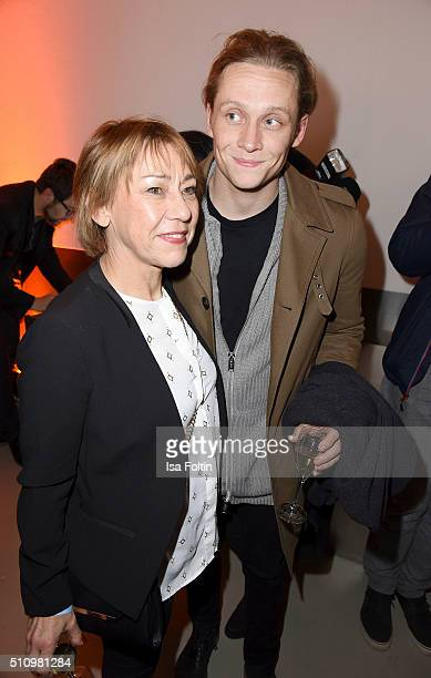 Gitta Schweighoefer and Matthias Schweighoefer attend the PantaFlix Party on February 17 2016 in Berlin Germany