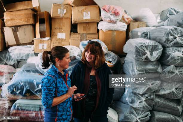 Gittan together with Linda in the laundry warehouse In the absence of the founder of the group Allison she ensure the efficiency of the group Dirty...