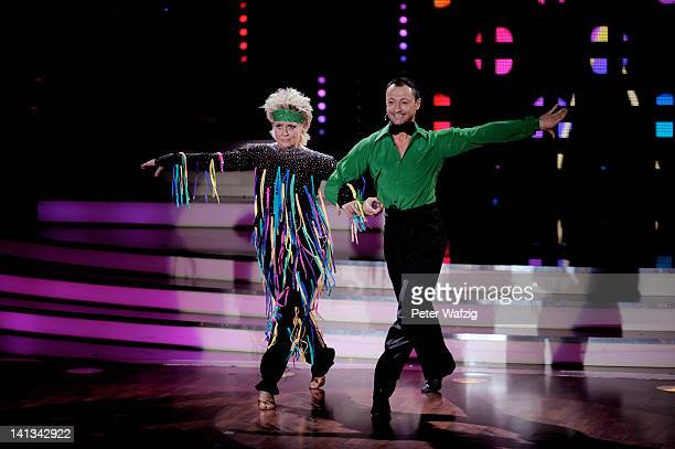 Gitte Haenning and Gennady Bondarenko perform during the 'Let's Dance' TV Show on March 14 2012 in Cologne Germany