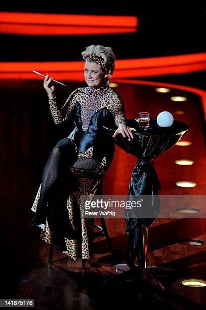 Gitte Haenning performs during the 'Let's Dance' TV Show on March 21 2012 in Cologne Germany