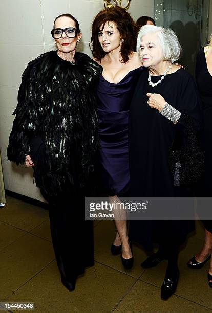 Gitte Lee Helena Bonham Carter and her mother Elena Propper de Callejon attend the 56th BFI London Film Festival Awards at the Banqueting House on...