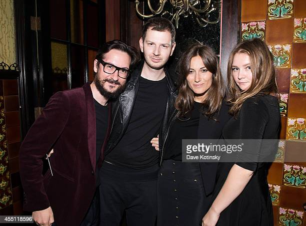 Giudo Cacciatori Gro Curtis Giorgia Tordini and Anna Delvey attend the first Tumblr Fashion Honor presented to Rodarte at The Jane Hotel on September...