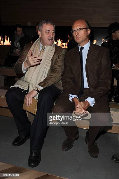 Giudo Podesta and Paolo Zegna attend Ermenegildo Zegna Front Row during  Milan Fashion Week Menswear Autumn 737013490b0