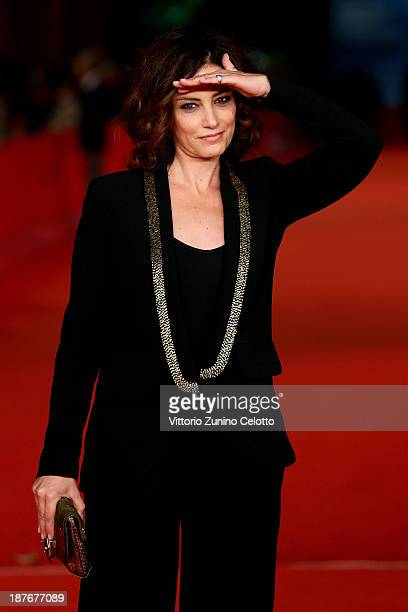Giulia Ando attends 'Il Venditore Di Medicine' Premiere during The 8th Rome Film Festival at Auditorium Parco Della Musica on November 11 2013 in...