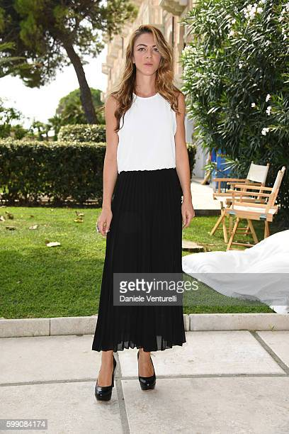 Giulia Ando poses after the Kineo Diamanti Award press conference during the 73rd Venice Film Festival at on September 4 2016 in Venice Italy
