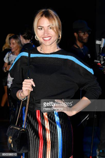 Giulia Andrea Gaudino attends the Byblos show during Milan Fashion Week Spring/Summer 2018 on September 20 2017 in Milan Italy