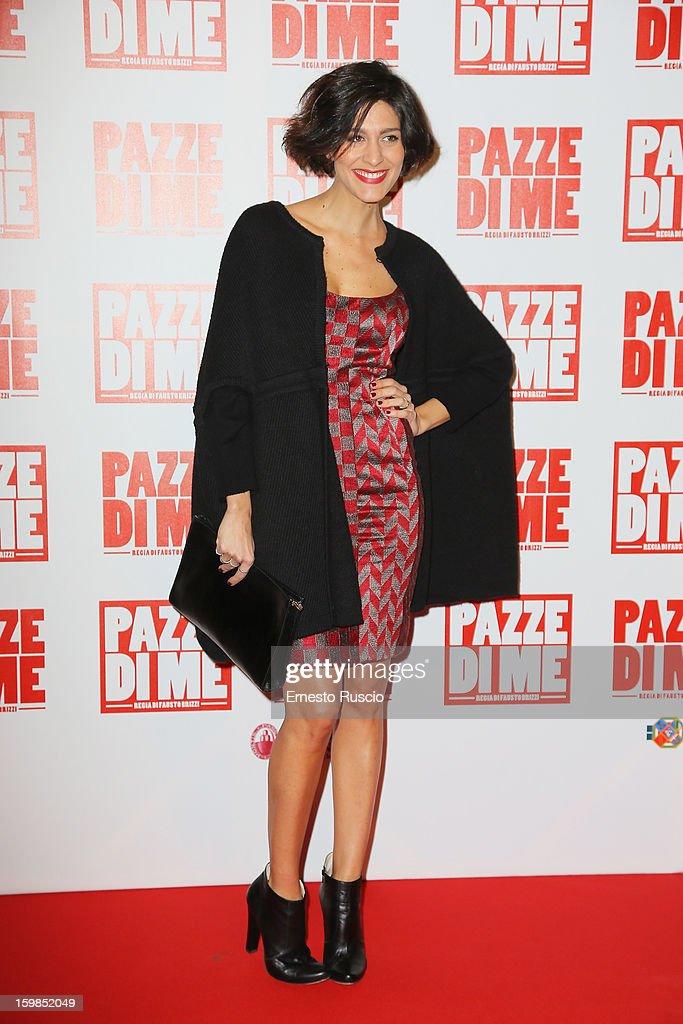 Giulia Bevilacqua attends the 'Pazze di Me' premiere at Teatro Sistina on January 21, 2013 in Rome, Italy.