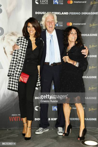 Giulia Bevilacqua Douglas Kirkland and Franoise Kirkland attend 'Douglas Kirkland Fermo Immagine' exhibition opening at MAXXI Museum on October 17...