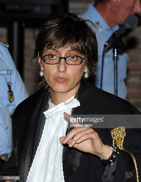 Giulia Bongiorno the lead lawyer in Raffaele Sollecito's defence team attends an appeal hearing to reconsider the guilty verdicts in the murder of...