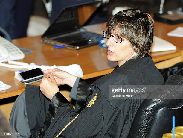 Giulia Bongiorno the lead lawyer in Raffaele Sollecito's defence team attends an appeal hearing to reconsider her guilty verdict in the murder of...