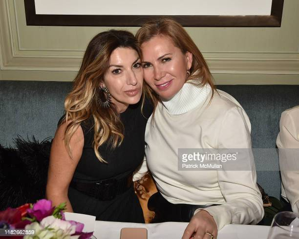 Giulia Caltagirone and Inga Rubenstein attend Beauty And Brains Dinner Hosted By Dr Macrene Alexiades Celebrating The Launch Of Macrene Actives at...