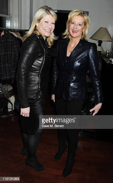 Giulia Costantini and Alison Jackson attend the i newspaper 100th issue anniversary party at the Century Club on March 15 2011 in London England