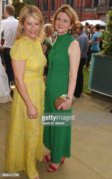 Giulia Costantini and Frances Osborne attend the 2017 annual VA Summer Party in partnership with Harrods at the Victoria and Albert Museum on June 21...