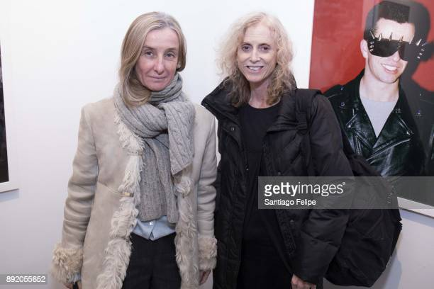 Giulia D' Agnolo Vallan and Elizabeth Stanley attend the 'Anton Yelchin Provocative Beauty' Opening Night Exhibition at De Buck Gallery on December...